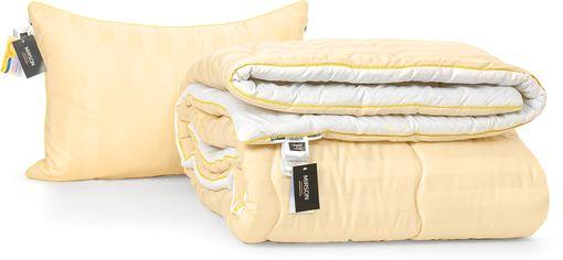 Акция на Набор антиаллергенный MirSon Eco-Soft Зима Carmela Hand Made №2467 одеяло 172х205 см + 2 подушки 50х70 средние (2200002065733) от Rozetka