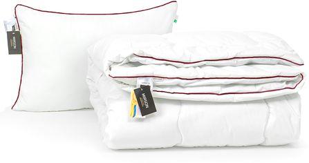 Акция на Набор антиаллергенный MirSon Eco-Soft Зима Deluxe Hand Made №2500 одеяло 140х205 см + подушка 50х70 средняя (2200002063494) от Rozetka