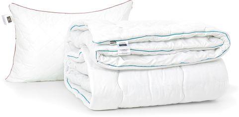 Акция на Набор антиаллергенный MirSon Eco-Soft Зима Eco Jojoba Hand Made №2425 одеяло 200х220 см + 2 подушки 50х70 средние (2200002069694) от Rozetka