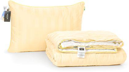 Акция на Набор антиаллергенный MirSon Eco-Soft Лето Carmela Hand Made №2461 одеяло 220х240 см + 2 подушки 50х70 средние (2200002073325) от Rozetka
