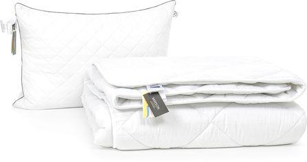 Акция на Набор антиаллергенный MirSon Eco-Soft Зима Eco Silver №2447 одеяло 200х220 см + 2 подушки 50х70 средние (2200002069779) от Rozetka