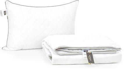 Акция на Набор антиаллергенный MirSon Eco-Soft Лето Royal Pearl №2545 одеяло 200х220 см + 2 подушки 50х70 средние (2200002072700) от Rozetka