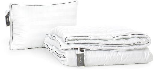Акция на Набор антиаллергенный MirSon Eco-Soft Деми Royal Pearl Hand Made №2482 одеяло 155х215 см + подушка трехкамерная 50х70 упругая (2200002066556) от Rozetka