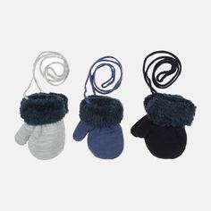 Акция на Перчатки YO! R-001/BOY 12 (3 пары) Серый/Синий/Темно-синий (5907617996304) от Rozetka