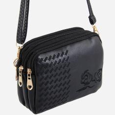 Акция на Женская сумка TRAUM 7206-15 Черная (4820007206153) от Rozetka