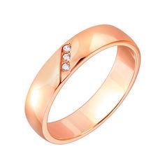 Акция на Обручальное кольцо из красного золота с бриллиантами 000126326 18.5 размера от Zlato