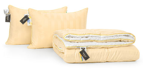 Акция на Набор с бамбуковым волокном MirSon Carmela Hand Made Деми №3336 Одеяло 172х205 + 2 подушки 50х70 упругие (2200002298704) от Rozetka