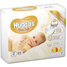 Акция на Подгузники детские Huggies Elite Soft 2 Conv (4-7кг), 24 шт (5029053564906) от Allo UA