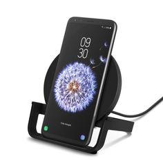 Акция на Беспроводное зарядное устройство Belkin Stand Wireless Charging Qi 10W Black (WIB001VFBK) от MOYO