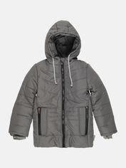 Акция на Зимняя куртка Одягайко 20233 134 см Темно-серая (2000000039992) от Rozetka