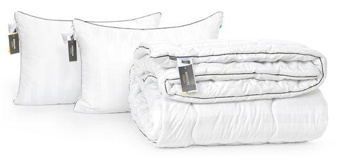 Акция на Набор с шелковым волокном MirSon Зима Royal Pearl Hand Made №3606 Одеяло 200х220 + 2 подушки 50x70 упругие (2200002326827) от Rozetka