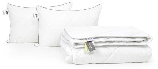 Акция на Набор с шелковым волокном MirSon Зима Royal Pearl - Bianco №3489 Одеяло 220х240 + подушки 50x70 упругие (2200002327015) от Rozetka