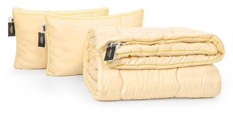 Акция на Набор с эвкалиптовым волокном MirSon Зима Carmela Hand Made №2717 Одеяло 200х220 + 2 подушки трехкамерные 50х70 средние (2200002138390) от Rozetka