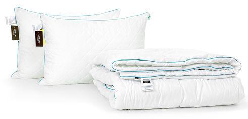 Акция на Набор с шелковым волокном MirSon Деми Eco Hand Made №3468 Одеяло 172х205 + 2 подушки 50x70 упругие (2200002321617) от Rozetka