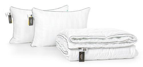 Акция на Набор с эвкалиптовым волокном MirSon Деми Royal Pearl Hand Made №2649 Одеяло 172х205 + 2 подушки 50х70 мягкие (2200002134330) от Rozetka