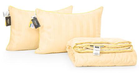 Акция на Набор с эвкалиптовым волокном MirSon Лето Carmela Hand Made №2708 Одеяло 200х220 + 2 подушки 50х70 упругие (2200002141529) от Rozetka