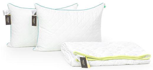 Акция на Набор с шелковым волокном MirSon Eco Лето №3446 Одеяло 172х205 + 2 подушки 50x70 средние (2200002329538) от Rozetka