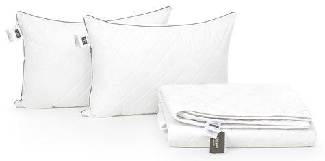 Акция на Набор с эвкалиптовым волокном MirSon Лето Bianco-Royal Pearl №2611 Одеяло 220х240 + 2 подушки 50х70 средние (2200002141789) от Rozetka
