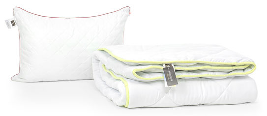 Акция на Набор с шелковым волокном MirSon Eco Зима Jojoba №3462 Одеяло 155х215 + подушка 50x70 средняя (2200002324939) от Rozetka