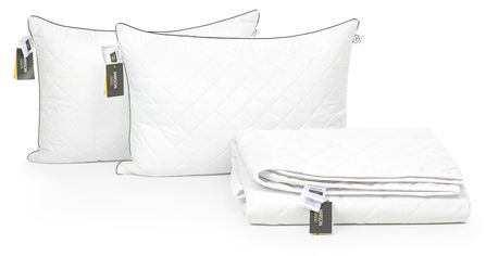 Акция на Набор с шелковым волокном MirSon Лето Bianco - Silver №3490 Одеяло 172х205 + 2 подушки 50x70 средние (2200002329682) от Rozetka