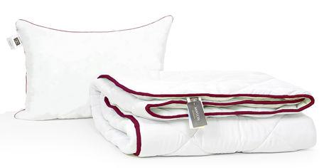 Акция на Набор с шелковым волокном MirSon Зима deluxe №3537 Одеяло 155х215 + подушка 50x70 упругая (2200002325189) от Rozetka