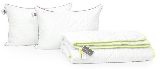 Акция на Набор с шелковым волокном MirSon Eco Деми Jojoba №3459 Одеяло 220х240 + 2 подушки 50x70 средние (2200002322751) от Rozetka