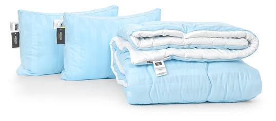 Акция на Набор с шелковым волокном MirSon Зима Valentino Hand Made №3504 Одеяло 172х205 + 2 подушки 50x70 трехкамерные мягкие (2200002325660) от Rozetka