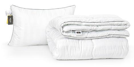Акция на Набор с шелковым волокном MirSon Зима Royal Pearl Hand Made №3525 Одеяло 140х205 + подушка 50x70 упругая (2200002324564) от Rozetka