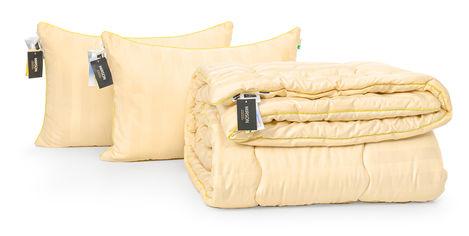 Акция на Набор с шелковым волокном MirSon Зима Carmela Hand Made №3584 Одеяло 172х205 + 2 подушки 50x70 средние (2200002325929) от Rozetka