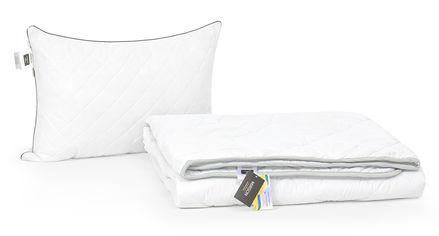 Акция на Набор с шелковым волокном MirSon Деми Royal Pearl №3594 Одеяло 140х205 + подушка 50x70 упругая (2200002320870) от Rozetka