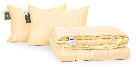 Акция на Набор с шелковым волокном MirSon Деми Carmela Hand Made №3581 Одеяло 220х240 + 2 подушки 50x70 срдение (2200002323154) от Rozetka
