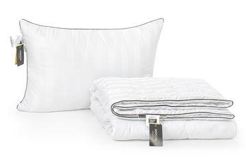 Акция на Набор с шелковым волокном MirSon Лето Royal Pearl Hand Made №3600 Одеяло 155х215 + подушка 50x70 упругая (2200002329453) от Rozetka