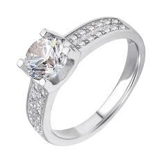 Акция на Серебряное кольцо Фионика с белыми фианитами 000116331 17.5 размера от Zlato