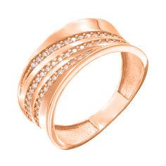 Акция на Кольцо из красного золота с фианитами 000140041 18.5 размера от Zlato