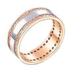 Акция на Золотое обручальное кольцо с фианитами 000103706 18 размера от Zlato