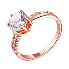 Акция на Золотое кольцо в красном цвете с фианитами 000119385 21 размера от Zlato