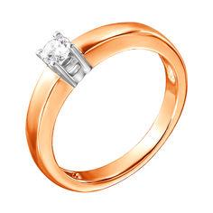 Акция на Кольцо в комбинированном цвете золота с бриллиантом 000134499 16 размера от Zlato