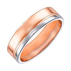 Акция на Золотое обручальное кольцо Обещание в комбинированном цвете 17 размера от Zlato