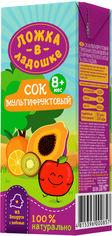 Упаковка сока Ложка в ладошке Мультифруктовый 200 мл х 27 шт (4815396001014) от Rozetka