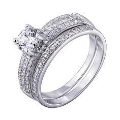 Акция на Серебряное кольцо с цирконием 000139902 16 размера от Zlato