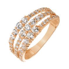 Акция на Кольцо из красного золота с фианитами 000141411 16 размера от Zlato