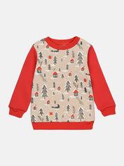 Акция на Свитшот Robinzone Рождество 2020 7120827 104 см Меланж/Красный (2113741000005) от Rozetka