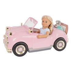 Акция на Транспорт для кукол Our Generation Ретро кабриолет со светом и звуком (BD67051Z) от Allo UA