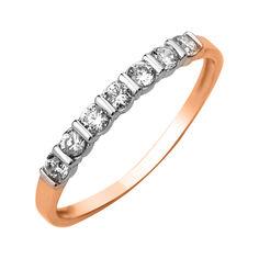 Акция на Золотое кольцо с кристаллами циркония 000103789 18 размера от Zlato