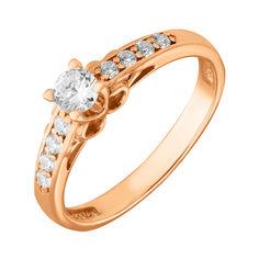 Акция на Кольцо из красного золота Анжелина с фианитами 000106403 19 размера от Zlato