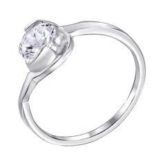 Акция на Серебряное кольцо Пион с кастом в виде цветка и фианитом 000116351 17 размера от Zlato