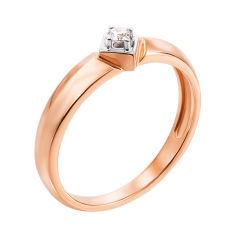 Акция на Кольцо в красном золоте Лолита с бриллиантом 16 размера от Zlato
