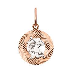 Акция на Кулон из красного золота знак зодиака Стрелец 000126113 от Zlato