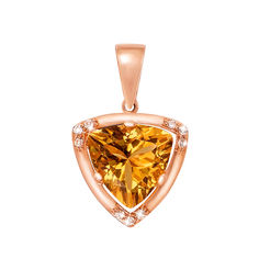 Акция на Кулон из красного золота с цитрином и фианитами 000126535 от Zlato