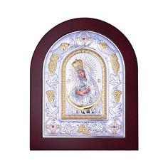 Акция на Посеребренная икона Богородица Остробрамская на подставке 000131792 от Zlato